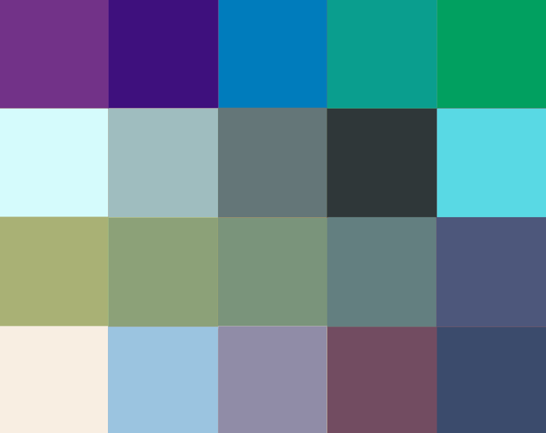 cool color palette example from nova lighting collection